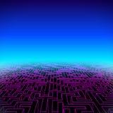 Retro landschap van het gokken hipster neon met labyrint royalty-vrije illustratie