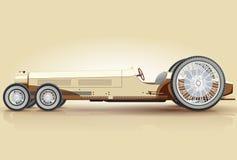 Retro lange auto voor notables Stock Fotografie