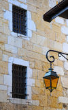 Retro lantern on old wall background, Annecy, France Royalty Free Stock Photo
