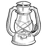Retro lantern sketch Stock Image