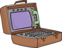 Retro Laptop Computer Royalty Free Stock Images