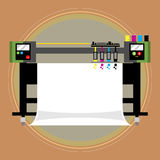 Large format Printer. Large printer use for print sign or banner with various materials. Such as PVC, glossy paper, paper, etc. Its two types of printer water Stock Photography