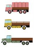 Retro lastbiluppsättning. vektor illustrationer