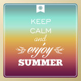 Retro lato być na wakacjach plakat Obrazy Royalty Free