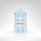 Retro latta del metallo del latte Immagine Stock Libera da Diritti