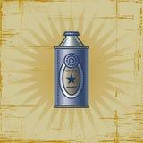 Retro latta della limonata Fotografia Stock Libera da Diritti
