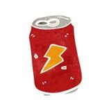 retro latta di soda del fumetto Immagine Stock