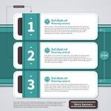 Retro layout with three horizontal options. EPS10. Royalty Free Stock Images