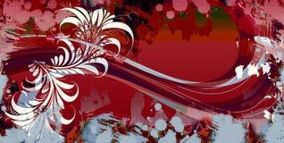 Retro leaf band vector illustration