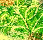Retro leaf illustration Stock Images