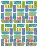 Retro leaf pattern Stock Photo