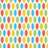 Retro leaf pattern design Stock Photography