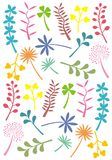 Retro leaf shapes stock illustration