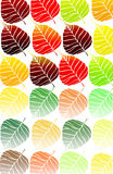 Retro leaf wallpaper Royalty Free Stock Image