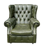 Retro leather armchair Royalty Free Stock Photos