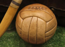 Retro leather ball Royalty Free Stock Photo