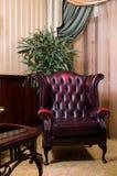 Retro leather chair Stock Photo