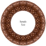 Retro  leather  circle texture Royalty Free Stock Images