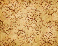 Retro leaves wallpaper Royalty Free Stock Images