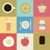 Retro- Lebensmittel-Ikone Lizenzfreies Stockfoto
