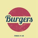 Retro- Lebensmittel-Zeichen - Weinlese-Hintergrund Stockbild