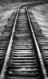 Retro- leeres Gleis im Wald Lizenzfreies Stockfoto