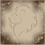 Retro lejon Royaltyfri Fotografi