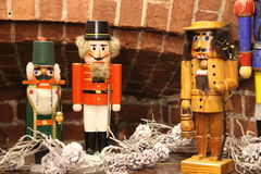 Retro leksaker kallade nötknäppare vanliga i jultid Arkivfoton