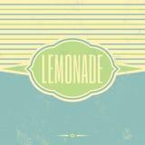 Retro Lemonade Vintage Template Stock Image