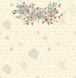 Retro letter background with flowers and text Stock Photography