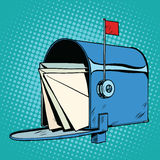Retro letter box realistic drawing Royalty Free Stock Image