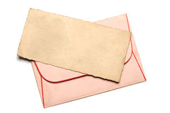 Retro letter witth envelope Royalty Free Stock Photography