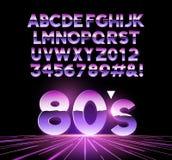 Retro lettere Airbrushed 80s Immagini Stock