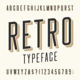 Retro lettersoort Letters, getallen en symbolen Royalty-vrije Stock Fotografie