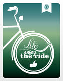 Retro life style bicycle poster. Stock Photography