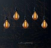 Retro light bulb Royalty Free Stock Photos