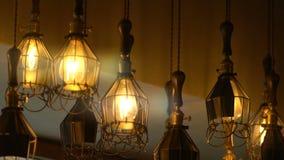 Retro Light Bulb Lighting Series stock video footage