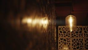 Retro Light Bulb Lighting Series. Lights with wall. stock video footage