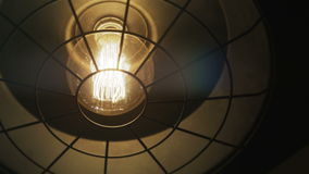 Retro Light Bulb Lighting Series stock video