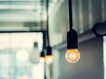 Retro light bulb Stock Image
