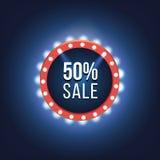 Retro light frame. Big sale Stock Image