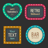 Retro light frames. Royalty Free Stock Photography