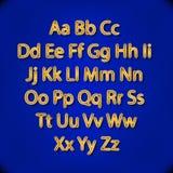 Retro Lightbulb Alphabet Glamorous showtime theatre alphabet. Vector illustration. Stock Images