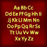 Retro Lightbulb Alphabet Glamorous showtime theatre alphabet. Vector illustration. Royalty Free Stock Photo