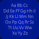 Retro Lightbulb Alphabet Glamorous showtime theatre alphabet. Vector illustration. Royalty Free Stock Images