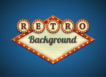 Retro lightbulbs signboard Royalty Free Stock Image