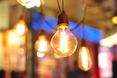 Retro Lighting Bulb Decoration Stock Photos