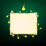 Retro lights banners Royalty Free Stock Image
