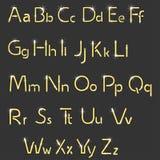Retro lights font Stock Image