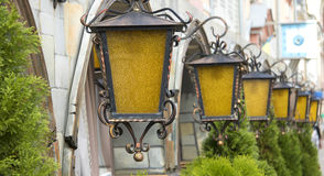 Retro lights. In the streets of the old town Stock Photography